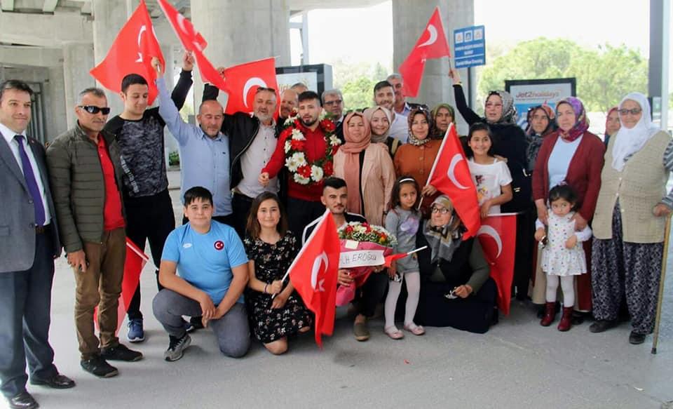 Güreşte Avrupa Şampiyonluğu kazanan Seydikemer'in gururunu karşıladık